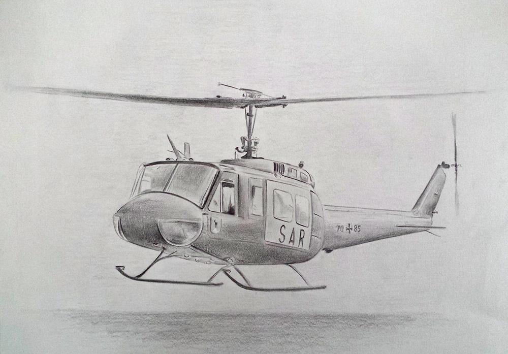 Zeichnung SAR Hubschrauber