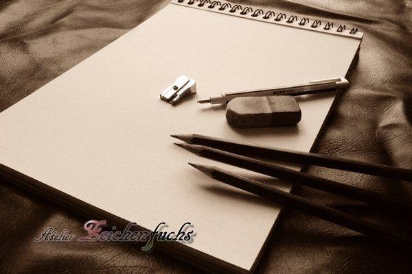 Bleistiftzeichnungen vom Zeichenfuchs