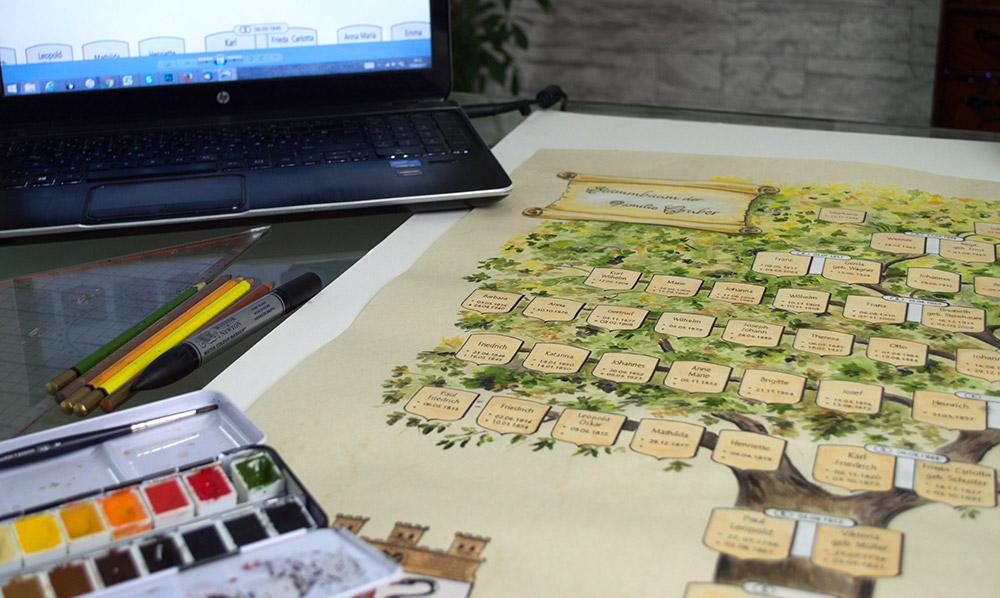 Stammbaum malen|zeichnen lassen